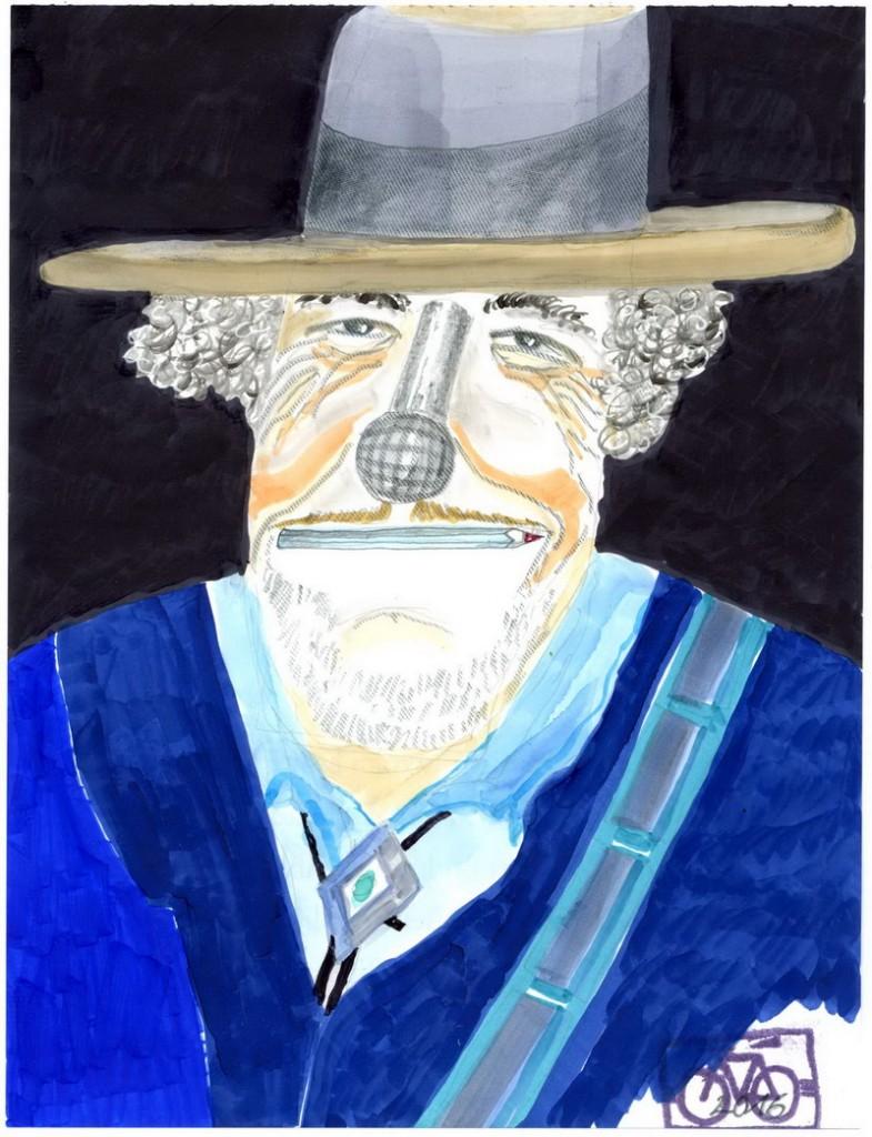 Zeichnung: Auch-Dylan-Fan V. Onmir, Rabenkalenderrückseite 14.10.2016