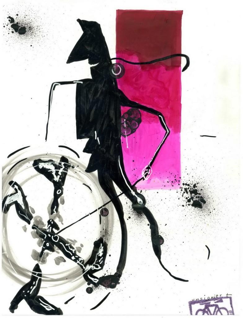 Zeichnung: Autodidakt V. Onmir, Rabenkalenderrückseite 25.9.2016