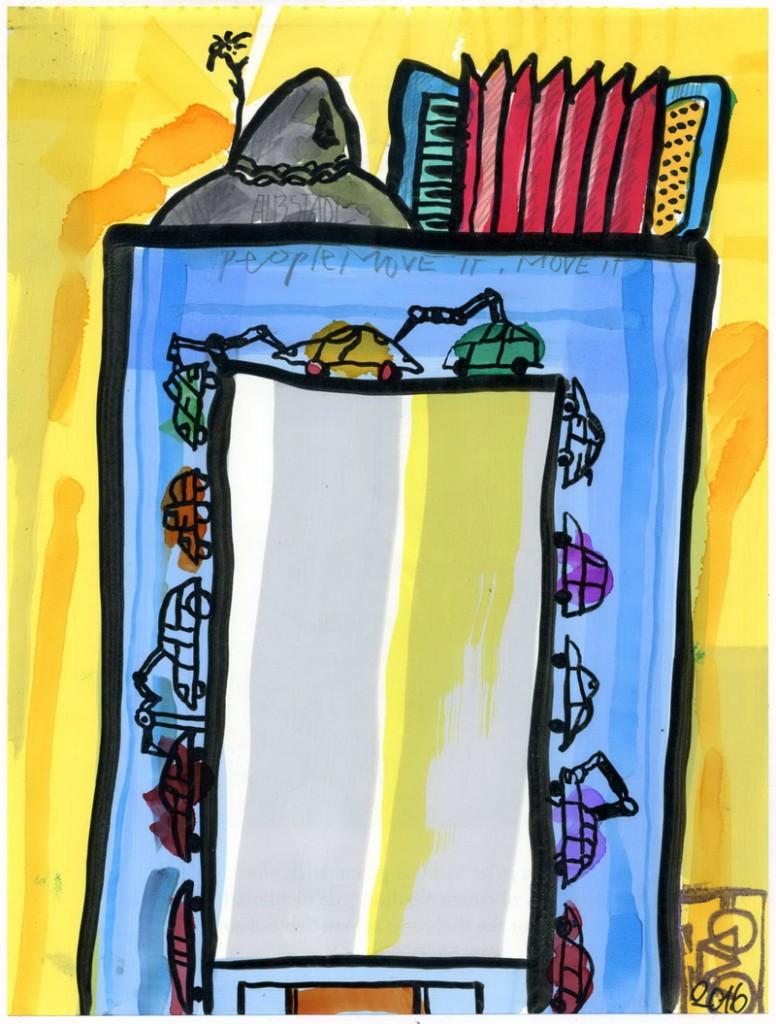 Zeichnung: Stiftmover V. Onmir, Rabenkalenderrückseite 21.10.2016