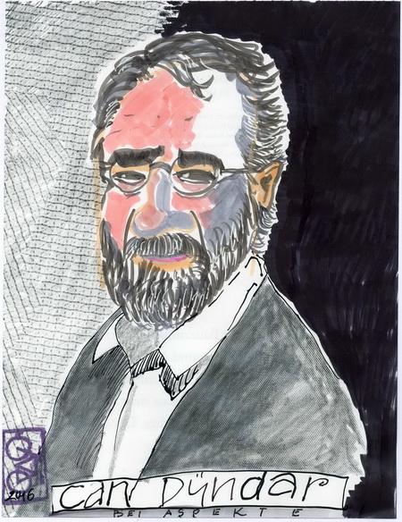 Zeichnung: Dürdarbewunderer V. Onmir, Rabenkalenderrückseite 11.11.2016