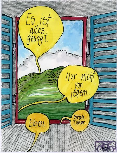 Zeichnung: V. Onmir, Rabenkalenderrückseite 19.11.2016