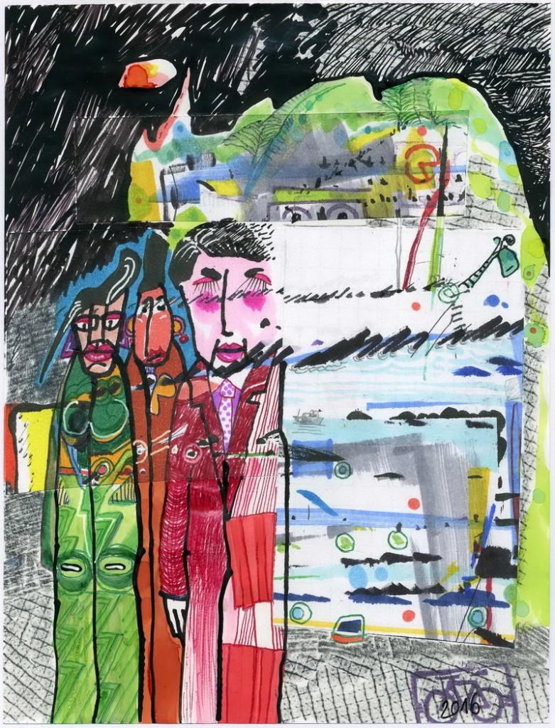 Zeichnung: DorisLessingGoogler: V. Onmir, Rabenkalenderrückseite 17.11. 2016