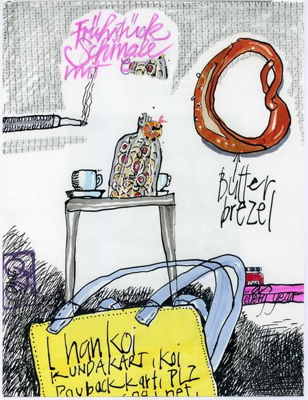 Zeichnung: V. Onmir, Rabenkalenderrückseite 29.11. 2016