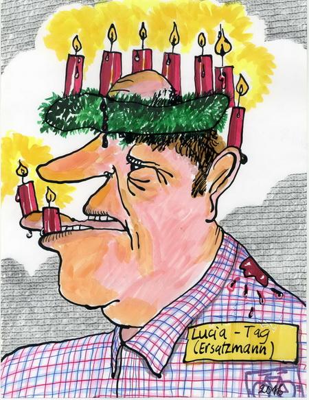 Zeichnung: Skandinavist V. Onmir, Rabenkalenderrückseite 13.12. 2016