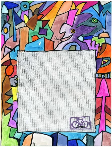 Zeichnung: V. Onmir, Rabenkalenderrückseite 16.12. 2016