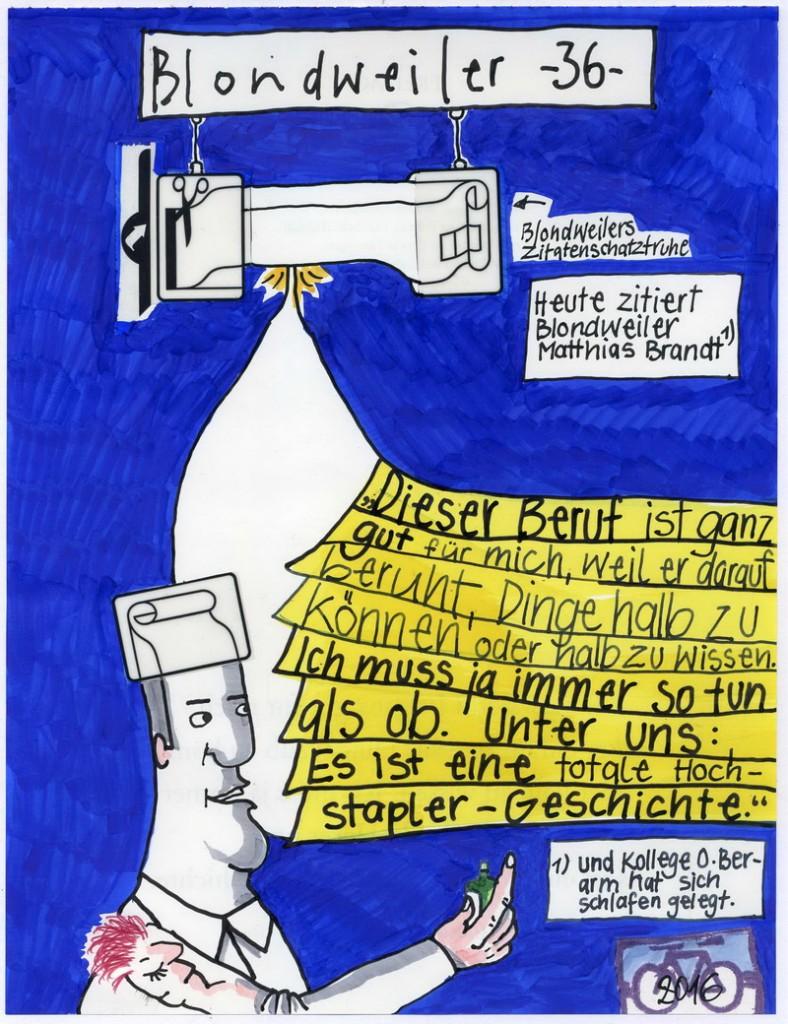 Zeichnung: Zitierer V. Onmir, Rabenkalenderrückseite 2.12. 2016