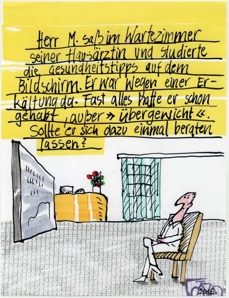 Zeichnung: Internetdoktor V. Onmir, Rabenkalenderrückseite 15.12. 2016