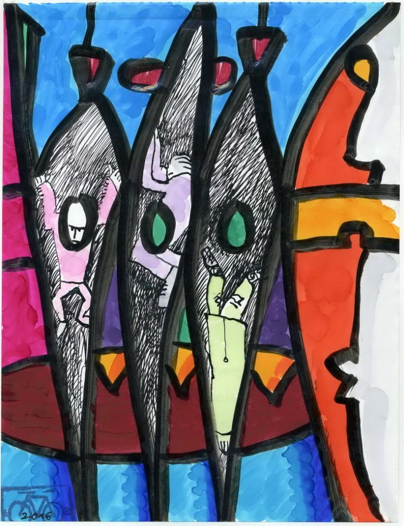 Zeichnung: V. Onmir, Rabenkalenderrückseite 217.12. 2016