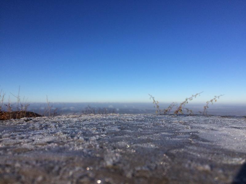 Blick über zugefrorenen See?