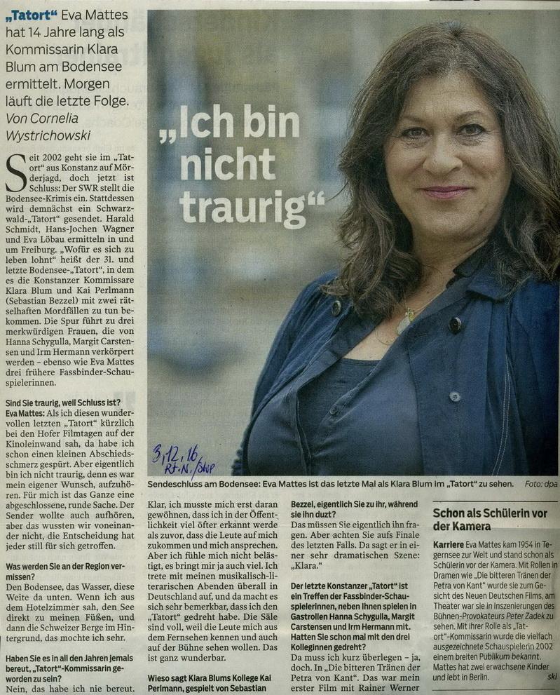 Reutlinger Nachrichten/SWP 3.12. 2016
