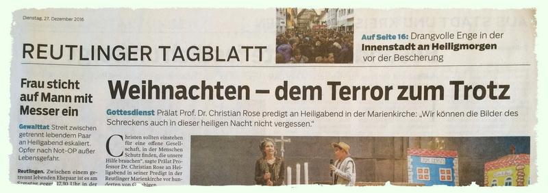 Reutlinger Nachrichten 27.12. 2016