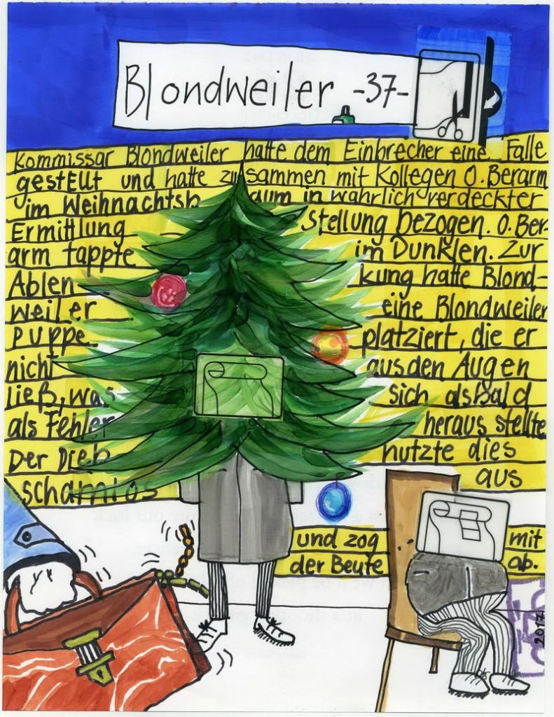 Zeichnung: V. Onmir, Rabenkalenderrückseite 26.12. 2016