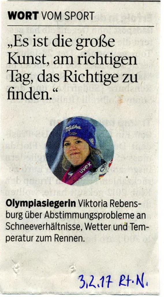 Reutlinger Nachrichten 3.2. 2017