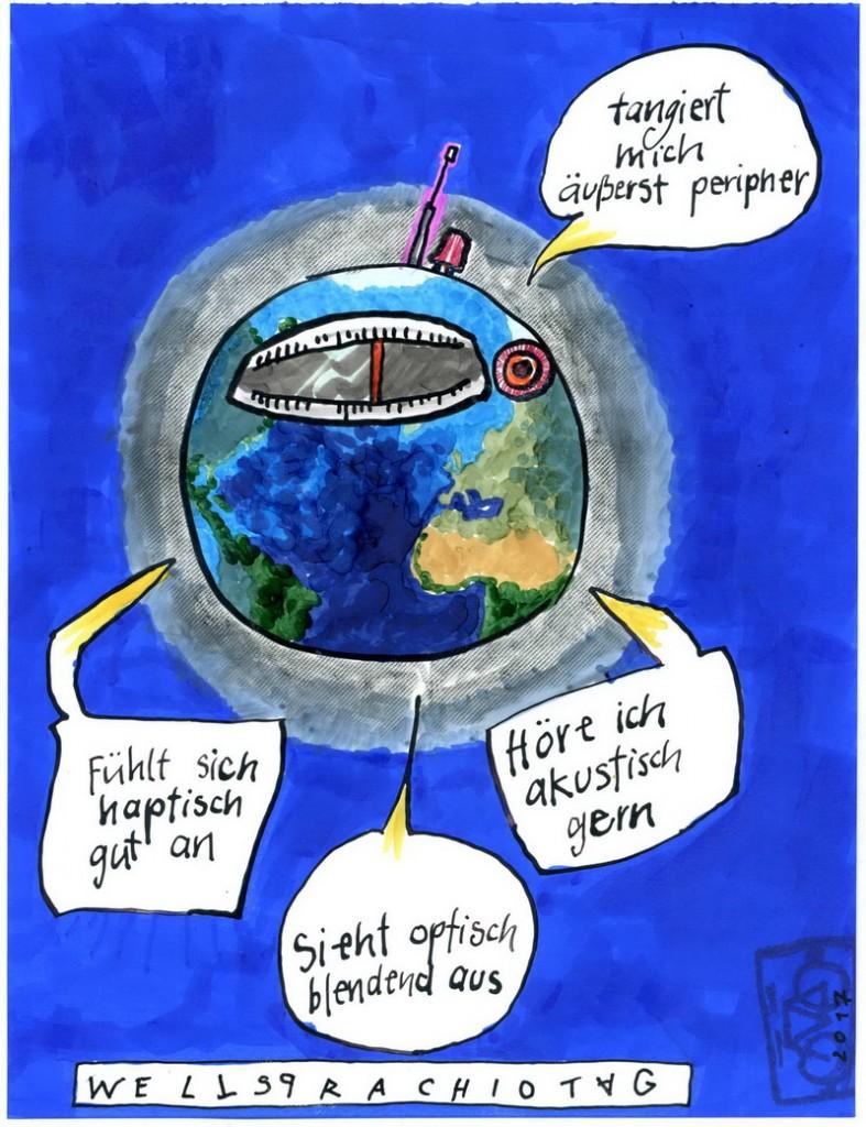 Zeichnung: V. Onmir, Rabenkalenderrückseite 13.2. 2017