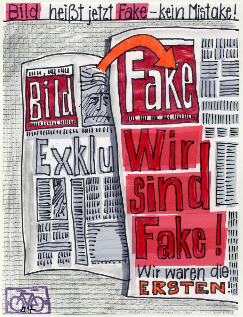 Zeichnung: Wallraff-Plagiat V. Onmir, Rabenkalenderrückseite 14.2. 2017